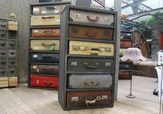 suitcase draws