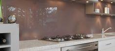 Glazen keuken achterwand op maat, voor slechts € 150,-/m2 *