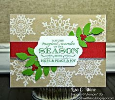 Stampin' Up! Christmas by www.getcraftywithlisa.com:  Magical Wonder of the Season (October 2013)