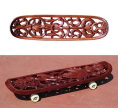 Under the supervision of German curator Tobias Megerle, a dozen Mahim woodcarvers produced their own take on the traditional skateboard.  http://www.cnngo.com/mumbai/life/mumbai-skateboard-645030#ixzz1ZPrDchLo