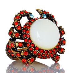 """Heidi Daus """"Queen Crab"""" Crystal-Accented Ring"""