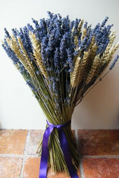 Dried flowers for weddings, decor and craft including dried lavender, dried flower bunches, potpourri, rose buds and confetti petals. Small Wedding Bouquets, Wedding Flowers, Dried Flower Bouquet, Dried Flowers, Dried Lavender Wedding, Country Style Wedding, Bunch Of Flowers, Autumn Wedding, Flower Petals