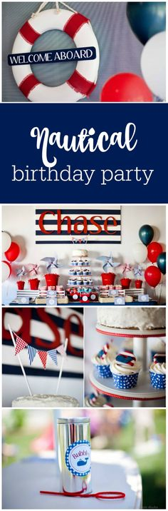 Nautical first birthday party by Paige Simple Studio featured on The Party Teacher | http://thepartyteacher.com/2013/07/18/guest-party-boys-nautical-first-birthday-party/