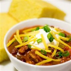 Turkey Chili: Only use 1.5 cups of water, do not use cayenne pepper, and chop the turkey as finely as possible. Use kidney beans.