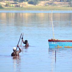 Recolectores de sal en el Lago Rosa de Senegal un durísimo trabajo para sobrevivir...