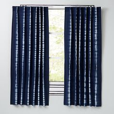 Tie-Dye Curtain Panels (Blue)  | The Land of Nod