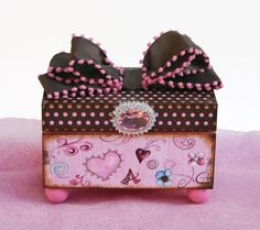 Personalized Trinket Box Oodles of Pink and Brown by NandJDesigns, $27.99