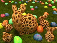Stanford Bunny - Voronoi Style by roman_hegglin - Thingiverse