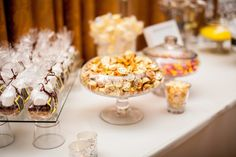 Stephanie & Caesar's Cheerful Sunny Wedding Candy Stations, Gold Candy, Wedding Planner, Treats, Table Decorations, Sweet, Wedding Planer, Sweet Like Candy, Candy Buffet