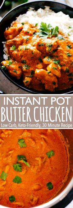 Instant Pot Butter Chicken Tender yogurt-marinated chicken cooked in the most glorious tomato based sauce. This wonderful Butter Chicken recipe is rich its creamy super tasty and incredibly quick to make in the Instant Pot! Instant Pot Butter Chicken Recipe, Butter Chicken Rezept, Indian Butter Chicken, Chicken Tender Recipes, Low Carb Chicken Recipes, Best Instant Pot Recipe, Instant Recipes, Sweet Recipes, Eating Clean