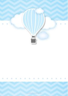 Airballoon Baby Shower invitation by glitterinvitescy on Etsy Balloon Invitation, Invitations, Shower Invitation, Balloon Birthday Themes, Scrapbook Bebe, Baby Posters, Baby Frame, Baby Shower Invitaciones, Baby Album