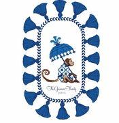 monkey with parasol blue