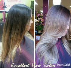 My client Suzy has about 50% grey an wanted to go lighter ...