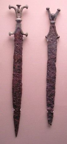 Celtic bronze swords.  ....archaeology & prehistoric