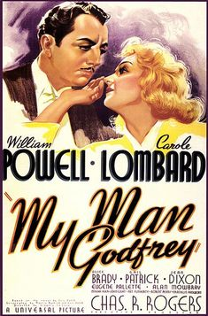 'My Man Godfrey', 1936, William Powell, Carole Lombard