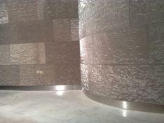 Revestimiento con telas de acero