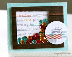 Hello Lovely Sequin Shaker Box Card - Scrapbook.com This handmade card was made using products from Chic Tags.