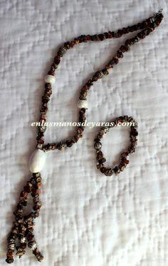 Collar de piedras con pulsera a juego Bisutería personalizada http://enlasmanosdeyaras.com/
