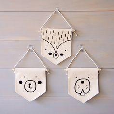 Originales banderolas de animales para dar un toque especial a la habitación infantil - Minimoi