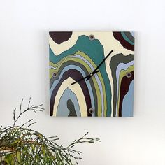 Creek: Modern Wall Clock By Pigandfish