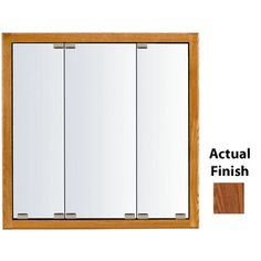 Kraftmaid Cottage 23-In X 28-In Square Surface/Recessed Mirrored Wood