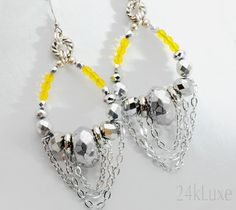 Contessa Statement Earrings by 24kLuxe on Etsy