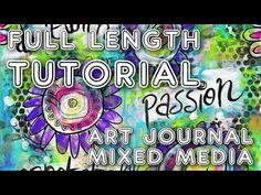 """Studio Time 1 - """"Spinning"""" - mixed media art journal full length tutorial…"""