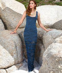 Платье-макси с узором из «листьев»