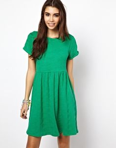 7a3db50055 Image 1 of ASOS Quilted Smock Dress Asos Dress