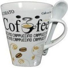 *CAPPUCCINO COFFEE MUG w/ SPOON