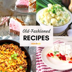 31 Old Fashioned Recipes from the Are you nostalgic for the good old American fare of the These old fashioned recipes will remind you of some of the best vintage recipes! Diner Recipes, Old Recipes, Vintage Recipes, Kitchen Recipes, Copycat Recipes, Cooking Recipes, Diner Food, 1950s Recipes, Easy Recipes