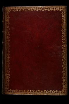 This cover is made of red Morocco leather decorated with gilt laces #manuscript #bookcover #bookcoverdesign #leather #middleages #france