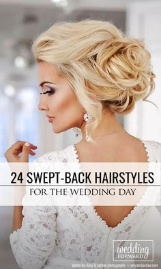 24 Trendy Swept-Back Wedding Hairstyles ❤ If you are not sure which hairstyle to choose, see our collection of swept-back wedding hairstyles and you will find gorgeous and fancy looks! See more: http://www.weddingforward.com/swept-back-wedding-hairstyles/