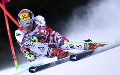 Marcel Hirscher of Austria competes in the FIS Alpine Skiing World Cup Men's Giant Slalom Slalom Skiing, Alpine Skiing, Snow Skiing, Photo Ski, Sports Pictures, Cool Pictures, Ski Mountain, Ski Racing, Cute Posts