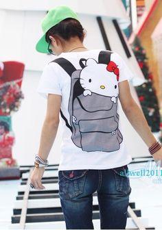 Hello Kitty t shirt for girl Super Cute Hello Kitty T Shirt, Hello Kitty Items, Band Merch, Kids Fashion, Women's Fashion, Sanrio, Passion For Fashion, Cute Cats, Sportswear