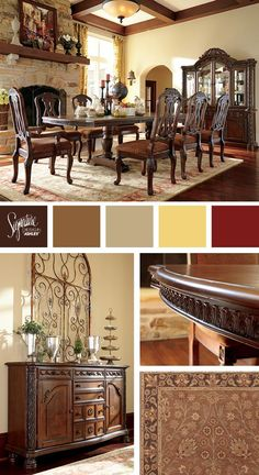 Traditional/Old World Style   North Shore Dining Room   Ashley Furniture