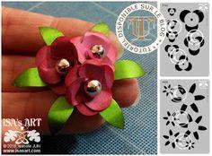ISA'sART: FLOWER - Nouveaux pochoirs fleurs