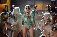 Lady Gaga performs on the 52nd Annual GRAMMY Awards on Jan. 31 at Staples Center in Los Angeles