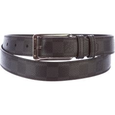 Pre-owned Louis Vuitton Damier Graphite Belt (20.160 RUB) ❤ liked on Polyvore featuring men's fashion, men's accessories, men's belts, black, louis vuitton mens belt and mens belts