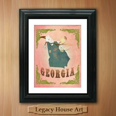 Georgia State Map Art