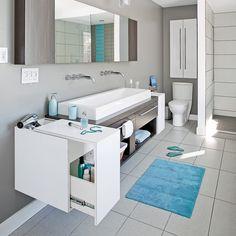 Salle de bain immaculée et moderne - Salle de bain - Inspirations - Décoration et rénovation - Pratico Pratique