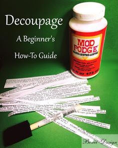 Basic diy step by step craft tutorial how to decoupage using scrap paper or fabric and Mod Podge for a unique finish.for craft projects. You are in the right place about Decoupage kids Here we offer y Diy Crafts For Teens, Diy Craft Projects, Creative Crafts, Craft Tutorials, Diy Crafts For Kids, Fun Crafts, Craft Ideas, Hero Crafts, Summer Crafts