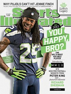 Seahawks cornerback Richard Sherman makes the cover of Sports Illustrated
