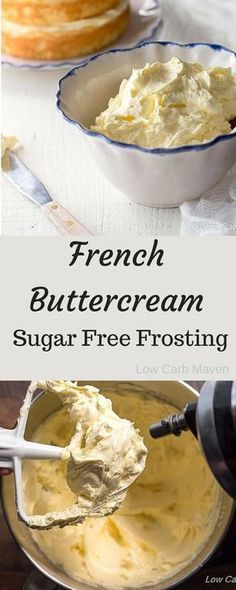 French Buttercream Sugar Free Frosting - a silky frosting pe French Buttercream Sugar Free Frosting - a silky frosting perfect for low c. French Buttercream Sugar Free Frosting - a silky frosting perfect for low carb keto diets Sugar Free Deserts, Sugar Free Treats, Sugar Free Recipes, Sugar Free Cakes, Low Carb Sweets, Low Carb Desserts, Dessert Recipes, Low Carb Cakes, Diabetic Desserts Sugar Free Low Carb