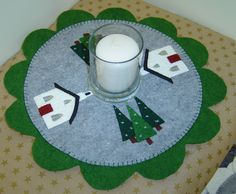Little Church in the Pines Candle Mat Epattern