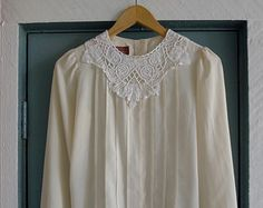 cream / / lace Chalk Texture, Cream, Blouse, Lace, Long Sleeve, People, Sleeves, Tops, Women