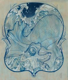 james jean- I wanted this tattoo'd on my back for the longest time.