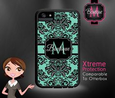 Custom Monogrammed Otterbox (comparable to) Iphone 4, Iphone 5, Iphone 5s on Etsy, $45.00