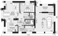 Unique Country House Plan With Four Bedrooms And Three Bathrooms - House And Decors Four Bedroom House Plans, Porch House Plans, Bungalow House Plans, Office Building Architecture, Modern Architecture House, Modern Architectural Styles, Modern House Floor Plans, Classic House Design, French Country House Plans