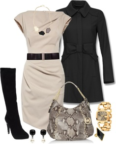 """""""Black, Grey, and Beige"""" by averbeek on Polyvore"""